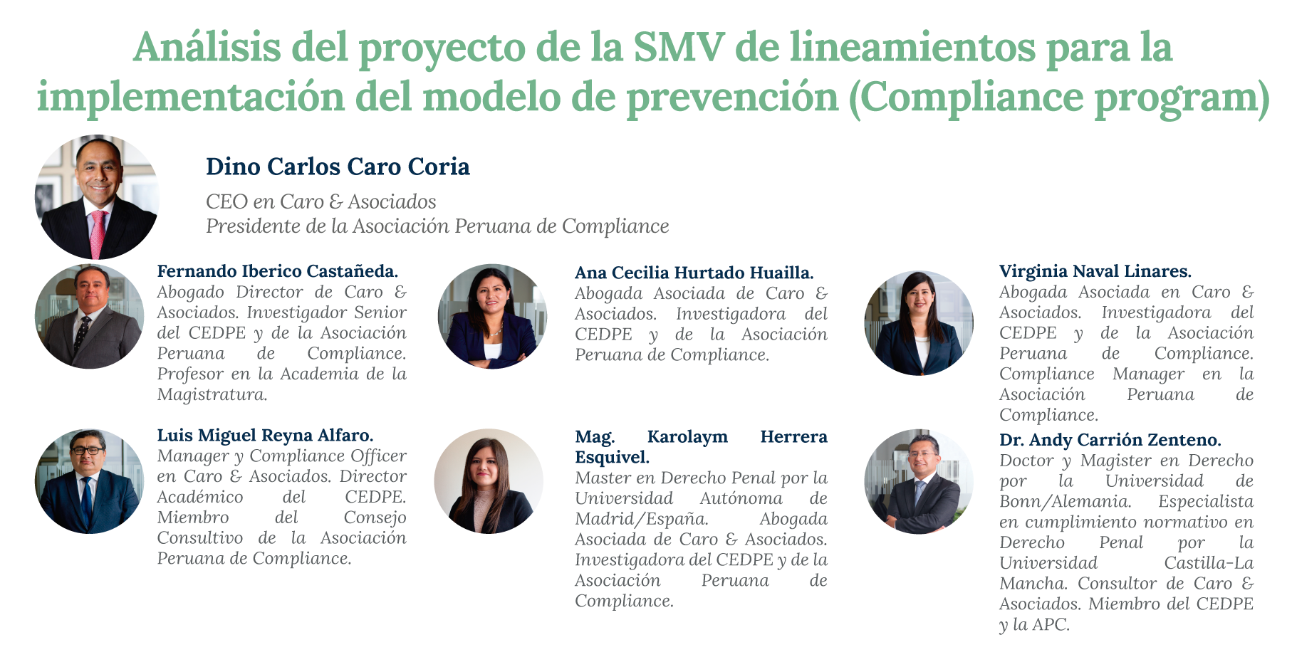 Analysis Of The Superintendence Of Securities Market (SMV)'s Project Of Guidelines For The Application Of The Prevention Model (Compliance Program)