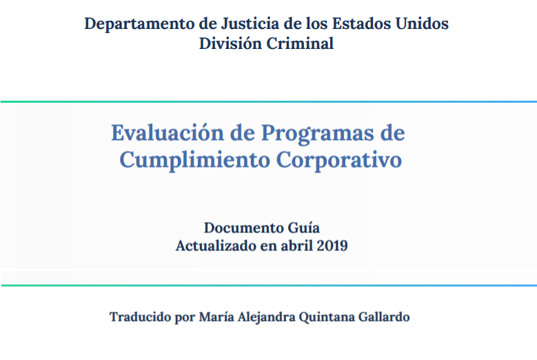 """Spanish Version Of """"Evaluation Of Corporate Compliance Programs"""""""
