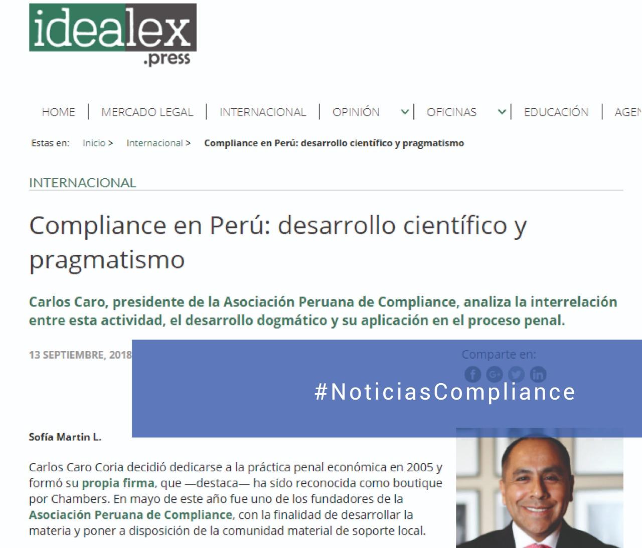 Compliance In Peru: Scientific And Pragmatic Development